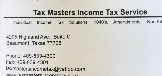 Accountants, Tax Preparers and Tax Attorneys Tax Masters Income Tax Service LLC in Beaumont TX