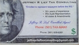 Jeffrey R. Lief Tax Consulting