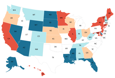 Comparing States' Taxes: A Review of Taxes by State